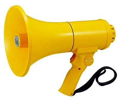 ER-1115W TOA 防滴メガホン 15W ホイッスル音付