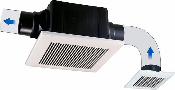 TK-265R2L 高須産業 ダクト用換気扇 天井埋込型換気扇 強/弱タイプ 2室換気