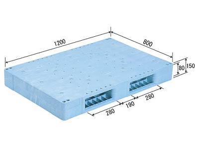 【メーカー直送】 法人様限定 R2-812F サンコー プラスチックパレット 三甲 ライトブルー (プラパレ)