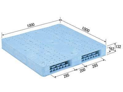 【メーカー直送】 法人様限定 R2-1010F サンコー プラスチックパレット 三甲 ライトブルー (プラパレ)