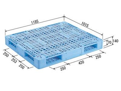 【メーカー直送】 法人様限定 R4-1012 サンコー プラスチックパレット 三甲 ライトブルー (プラパレ)