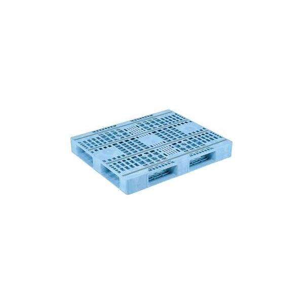 【メーカー直送】 法人様限定 D4-1012F-3 サンコー プラスチックパレット 三甲 ライトブルー (プラパレ)