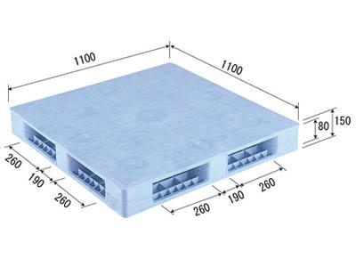 【メーカー直送】 法人様限定 R4-1111F サンコー プラスチックパレット 三甲 ライトブルー (プラパレ)