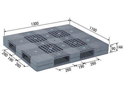 【メーカー直送】 法人様限定 R4-1113 サンコー プラスチックパレット 三甲 グレー (プラパレ)