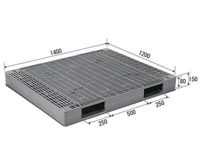 【メーカー直送】 法人様限定 R-1214 サンコー プラスチックパレット 三甲 グレー (プラパレ)