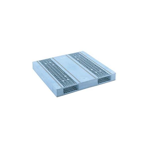 【メーカー直送】 法人様限定 R2-1313F-2 サンコー プラスチックパレット 三甲 ライトブルー (プラパレ)