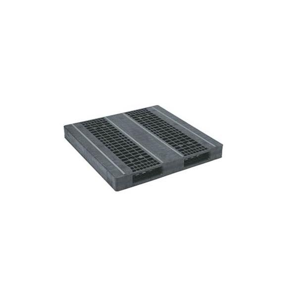 【メーカー直送】 法人様限定 R2-1313F-3 サンコー プラスチックパレット 三甲 ブラック (プラパレ)