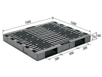 【メーカー直送】 法人様限定 R2-1315 サンコー プラスチックパレット 三甲 グレー (プラパレ)