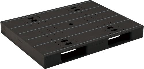【メーカー直送】 LX-1114D2 サンコー プラスチックパレット 三甲 ブラック (プラパレ)