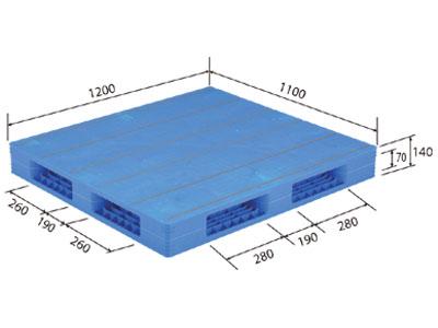 【メーカー直送】 法人様限定 LX-1112R4 サンコー プラスチックパレット 三甲 ブルー (プラパレ)