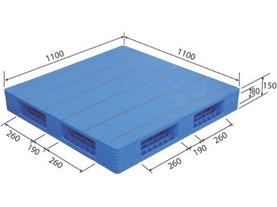 【メーカー直送】 法人様限定 LX-1111R4-3 サンコー プラスチックパレット 三甲 ブルー (プラパレ)