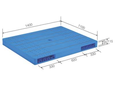 【メーカー直送】 法人様限定 LX-1114R2-4 サンコー プラスチックパレット 三甲 ブルー (プラパレ)