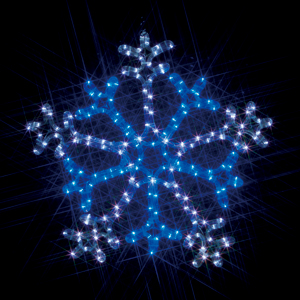 SJ-C103WB-N ジェフコム LEDモチーフ・連結タイプ(屋外用) 雪の結晶・12.1W・高さ560mm白/青・点滅タイプ・コントローラー対応