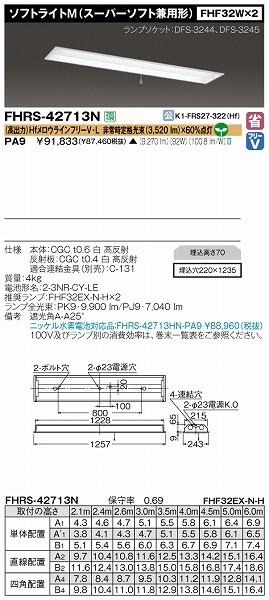 FHRS-42713N-PA9 【受注生産品】 東芝 非常用照明器具