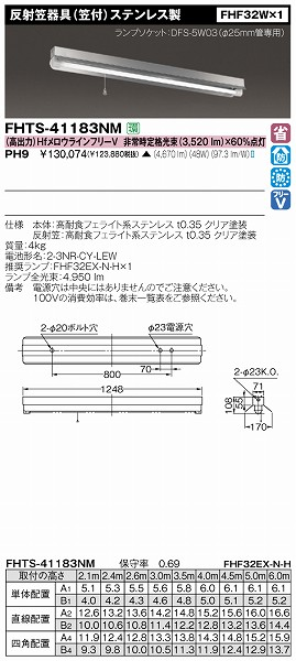 FHTS-41183NM-PH9 【受注生産品】 東芝 非常用照明器具