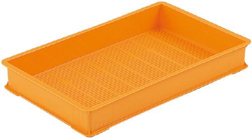 メーカー直送 法人様限定 3型-K サンコー 買収 麺コンテナー オレンジ 高い素材 三甲 101109