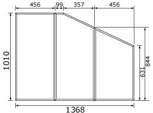 【受注品】 RL91041SC パナソニック 風呂フタ(長辺1368ミリ×短辺1010ミリ:組みフタ:台形:3枚:切り欠きなし