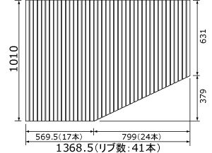 RL91041LC パナソニック 風呂フタ(長辺1368.5ミリ×短辺1010ミリ:L用:巻きフタ:台形:切り欠きなし)
