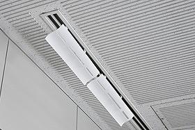 【24個セット】 エアコン 風向調整 風除け(かぜよけ) エアーウイング スリット 2台入 ホワイト (ダイアン・サービス AW12-021-02