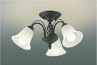 ライト 照明器具 天井照明 シャンデリア リビング 小型 電球色 コイズミ 人気商品 本物◆ AH39693L 小型シャンデリア LED