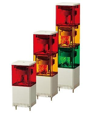 DIY 工具 作業灯 積層回転灯 パトライト ※写真は代表画像です 商品は2段 緑色 KES-210-RG 赤 信憑 LED小型積層回転灯 緑 です PATLITE 割引も実施中