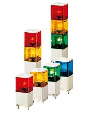 【受注品 納期1-1.5ヶ月】 PATLITE パトライト 小型積層回転灯 赤・黄・緑色 KJSB-302-RYG