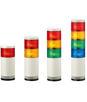 【受注品 納期1-1.5ヶ月】 PATLITE パトライト LED大型積層信号灯 赤・黄色 LGE-220-RY