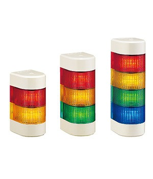 【受注品 納期1-1.5ヶ月】 PATLITE パトライト LED壁面型積層信号灯 赤・黄色 WME-202AFB-RY