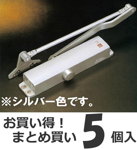 【5個セット】 リョービ ドアクローザー BL-4P シルバー パラレル型(ストップなし) 玄関ドア用