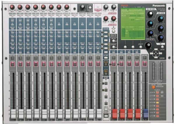 WR-D01 パナソニック デジタルミキサー (12イン、9バス、8アウトプットプロセッサー)