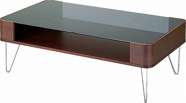 【メーカー直送】 PT-582BR 東谷 ルーマス コーヒーテーブルL ガラステーブル センターテーブル AZUMAYA