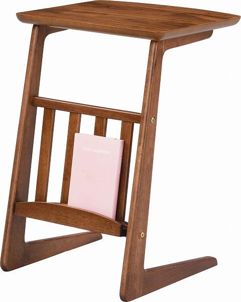【メーカー直送】 TAC-239WAL 東谷 ソファサイドテーブル 木製 AZUMAYA