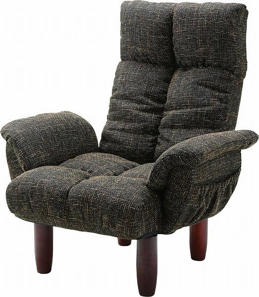 【メーカー直送】 RKC-39BR 東谷 脚付き パーソナルチェア チェアー 椅子 イス ブラウン AZUMAYA