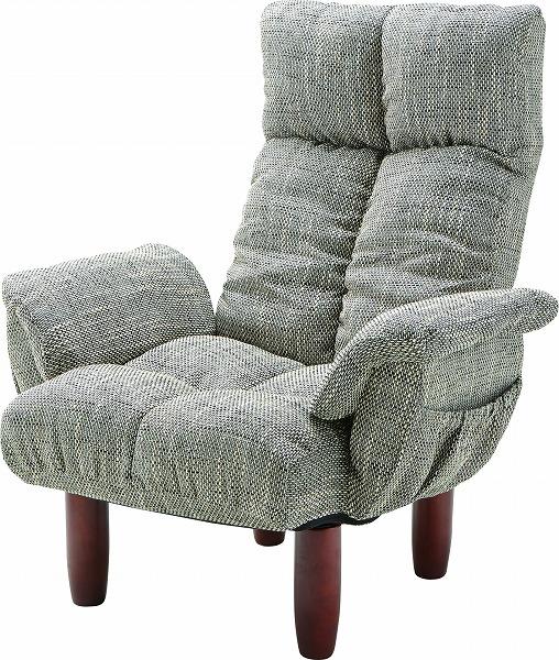 【メーカー直送】 RKC-39GY 東谷 脚付き パーソナルチェア チェアー 椅子 イス グレー AZUMAYA