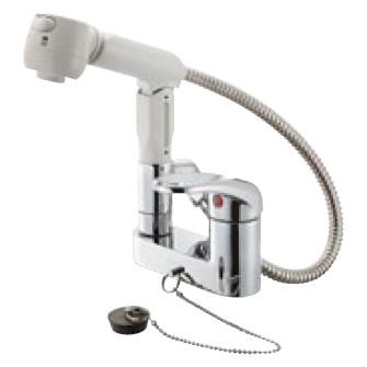 K37100KR-13 三栄水栓 シングルスプレー混合栓(洗髪用) 寒冷地用 13 (K37000KR-13 後継品) SANEI
