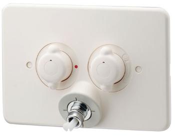 127-104 カクダイ 【JIS規格】 洗濯機用混合栓(立ち上がり配管用) KAKUDAI