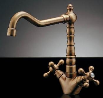 150-431 カクダイ 【JIS規格】 2ハンドル混合栓(オールドブラス) KAKUDAI