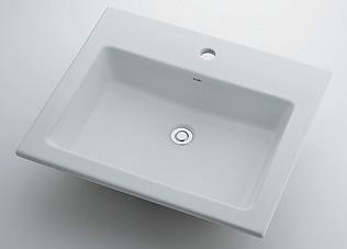 493-008 カクダイ 角型洗面器 1ホール KAKUDAI