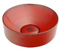493-023-R カクダイ 丸型手洗器 鉄赤 KAKUDAI