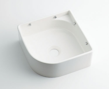 493-048-W カクダイ 壁掛手洗器 ホワイト KAKUDAI