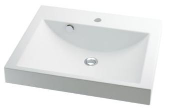 493-072 カクダイ 角型洗面器 KAKUDAI