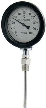 649-913-100B カクダイ バイメタル製温度計(防水・ストレート型) 100B KAKUDAI