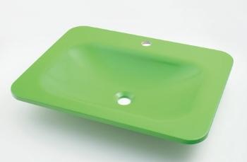 #MR-493220GR カクダイ 角型洗面器 アップルグリーン KAKUDAI