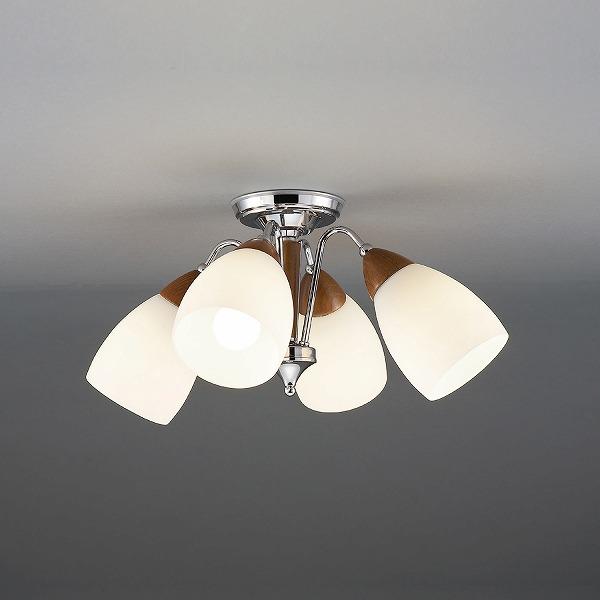 CD-4324-L 山田照明 シャンデリア ウォールナット色 LED ~6畳