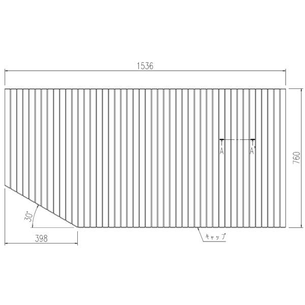 LIXIL INAX 風呂ふた 巻きフタ Lタイプ BL-SC74150(2)L-K