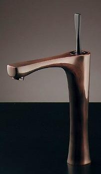 シングルレバー混合栓(トール・ブロンズ) 183-247GN カクダイ KAKUDAI