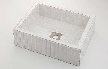 角型洗面器 ホワイト 493-143-W カクダイ KAKUDAI