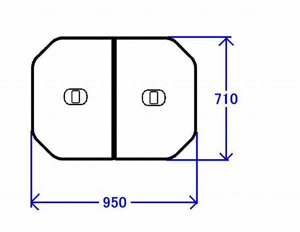 PCF1000R#NW1 TOTO 風呂ふた 軽量把手付組み合わせ式ふろふた(外寸:950×710mm)