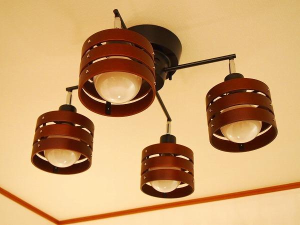 シーリングライト リモコン付 LED 照明 4灯 シーリングスポットライト ダークブラウン TP277 トヨスター