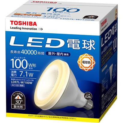 LDR7L-W/100W 東芝 LED電球 ビームランプ形 100W形 E26 電球色 (LDR12L-W 後継品)